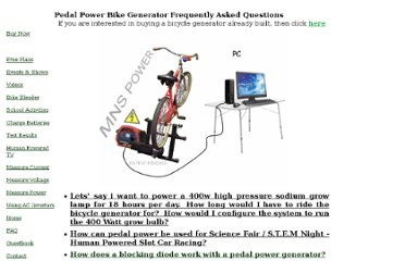 http://scienceshareware.com/bicycle-generator-faq.htm#free-diy