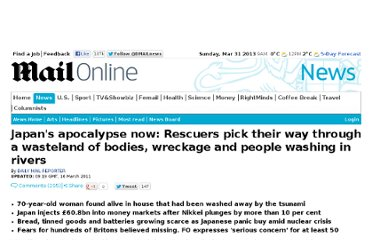 http://www.dailymail.co.uk/news/article-1366395/Japan-tsunami-earthquake-Rescuers-pick-way-apocalypse-wasteland.html