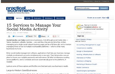 http://www.practicalecommerce.com/articles/2688-15-Services-to-Manage-Your-Social-Media-Activity