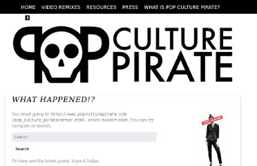 http://www.popculturepirate.com/pop_culture_pirate/enter.html