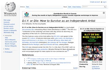 http://en.wikipedia.org/wiki/D.I.Y._or_Die:_How_to_Survive_as_an_Independent_Artist