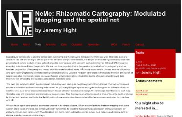 http://www.neme.org/991/rhizomatic-cartography