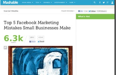 http://mashable.com/2011/04/02/5-facebook-marketing-mistakes-small-businesses-make/
