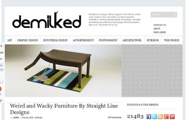 http://www.demilked.com/weird-and-wacky-furniture-by-straight-line-designs/