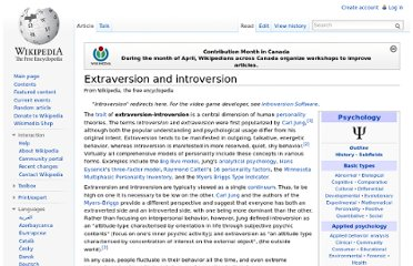 http://en.wikipedia.org/wiki/Extraversion_and_introversion