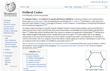 http://en.wikipedia.org/wiki/Holland_Codes