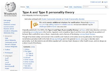 http://en.wikipedia.org/wiki/Type_A_and_Type_B_personality_theory