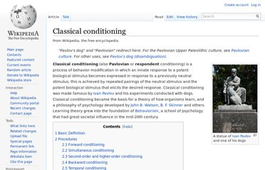 http://en.wikipedia.org/wiki/Classical_conditioning
