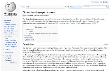 http://en.wikipedia.org/wiki/Guardian_temperament