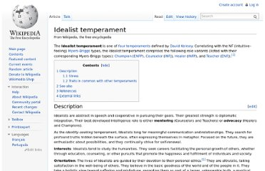 http://en.wikipedia.org/wiki/Idealist_temperament