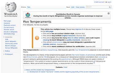 http://en.wikipedia.org/wiki/Five_Temperaments