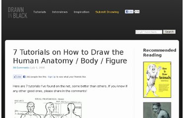 http://www.drawninblack.com/2008/07/7-tutorials-on-how-to-draw-the-human-anatomy-body-figure/