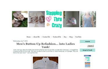 http://www.steppingthrucrazy.com/2010/07/mens-button-up-refashion-into-ladys.html