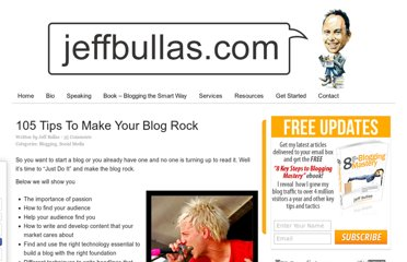 http://www.jeffbullas.com/2011/01/25/105-tips-to-make-your-blog-rock/