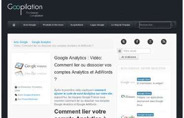 http://www.goopilation.com/2009/10/google-analytics-video-lier-dissocier-comptes-analytics-adwords.html
