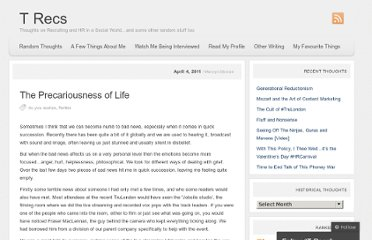 http://mervyndinnen.wordpress.com/2011/04/04/the-precariousness-of-life/