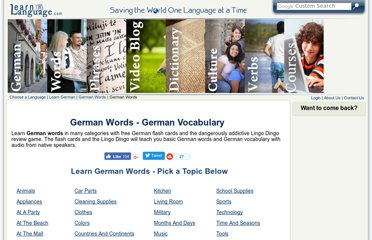 http://www.learnalanguage.com/learn-german/german-words/