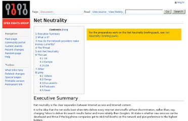 http://wiki.openrightsgroup.org/wiki/Net_Neutrality#Europe