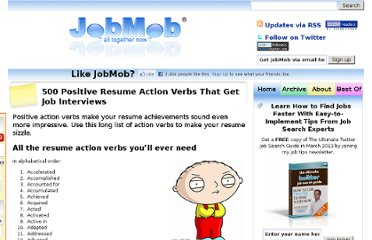 http://jobmob.co.il/blog/positive-resume-action-verbs/