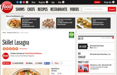 http://www.foodnetwork.com/recipes/food-network-kitchens/skillet-lasagna-recipe/index.html