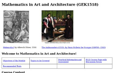 http://www.math.nus.edu.sg/aslaksen/teaching/math-art-arch.html