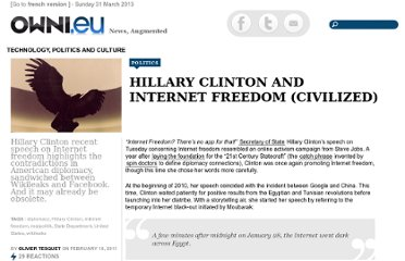 http://owni.eu/2011/02/18/hillary-clinton-and-internet-freedom-civilized/