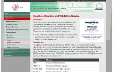 http://demo.a-sit.at/e_government/egov_bus/signature_creation_validation.html