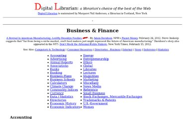 http://www.digital-librarian.com/business.html