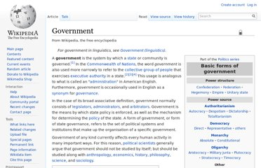 http://en.wikipedia.org/wiki/Government