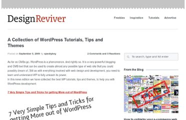 http://designreviver.com/tips/a-collection-of-wordpress-tutorials-tips-and-themes/
