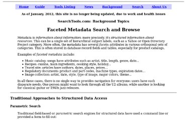 http://www.searchtools.com/info/faceted-metadata.html
