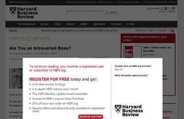 http://blogs.hbr.org/cs/2011/04/are_you_an_introverted_boss.html