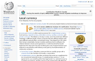 http://en.wikipedia.org/wiki/Local_currency