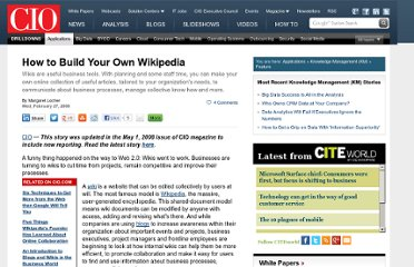 http://www.cio.com/article/189150/How_to_Build_Your_Own_Wikipedia