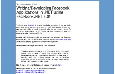 http://www.codekicks.com/2007/11/writing-facebook-applications-in-net.html