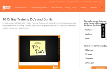 http://elearningbrothers.com/ten-online-training-dos-and-donts/