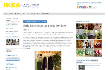 http://www.ikeahackers.net/2009/03/billy-bookcases-as-room-dividers.html