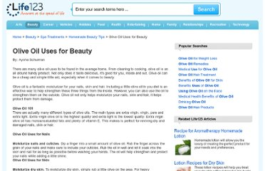 http://www.life123.com/beauty/spa-treatments/beauty-tips/olive-oil-uses.shtml