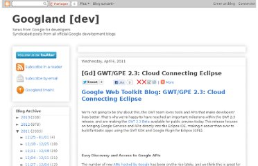 http://googland-dev.blogspot.com/2011/04/gd-gwtgpe-23-cloud-connecting-eclipse.html