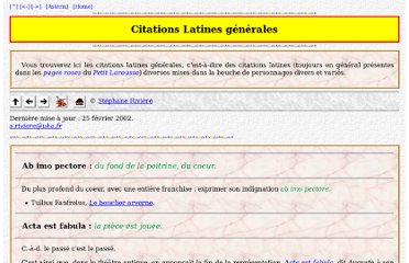 http://www.mage.fst.uha.fr/asterix/citation/latines.html
