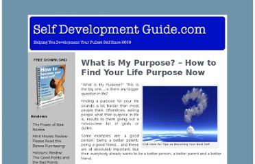 http://www.selfdevelopmentguide.com/what-is-my-purpose