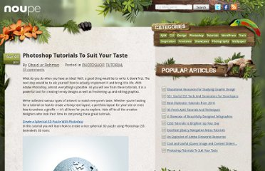 http://www.noupe.com/tutorial/photoshop-tutorials-to-suit-your-taste.html
