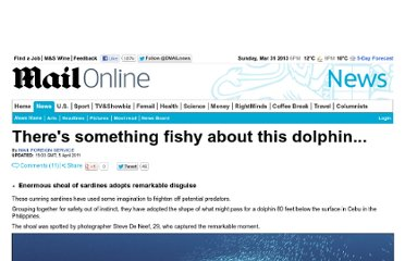 http://www.dailymail.co.uk/news/article-1373632/Theres-fishy-dolphin-.html