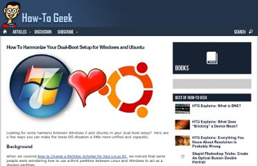 http://www.howtogeek.com/howto/35807/how-to-harmonize-your-dual-boot-setup-for-windows-and-ubuntu/