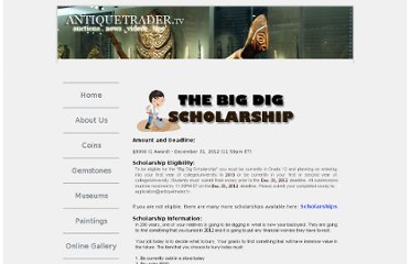 http://www.antiquetrader.tv/studentscholarship.php