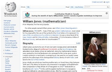 http://en.wikipedia.org/wiki/William_Jones_(mathematician)