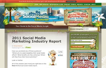 http://www.socialmediaexaminer.com/social-media-marketing-industry-report-2011/
