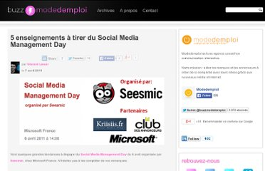 http://www.agence-modedemploi.com/buzz/fr/5-enseignements-a-tirer-du-social-media-management-day/