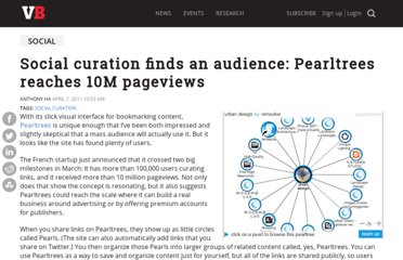 http://venturebeat.com/2011/04/07/pearltrees-10m-pageviews/