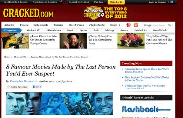 http://www.cracked.com/article_19097_8-famous-movies-made-by-last-person-youd-ever-suspect.html
